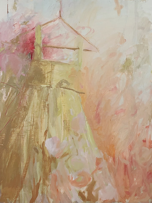 rose dress original painting