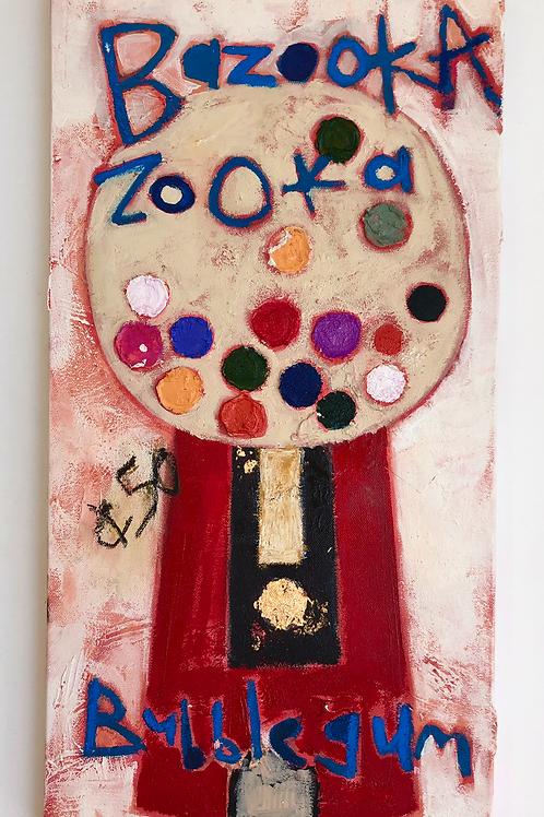 bazooka bubblegum painting