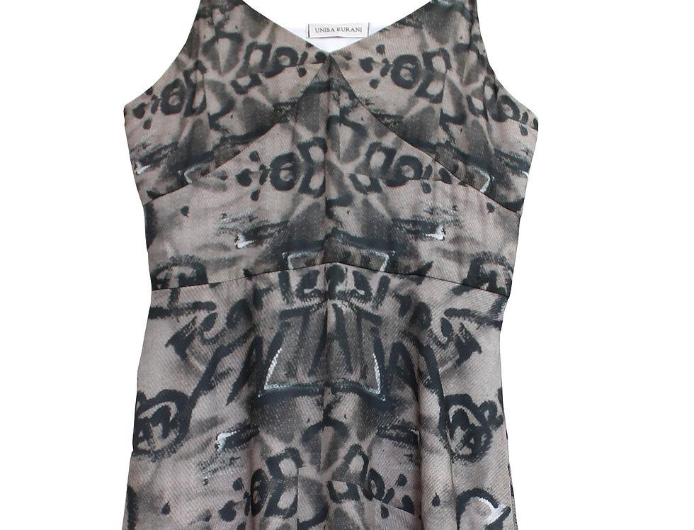 Mini Gray Collage Dress