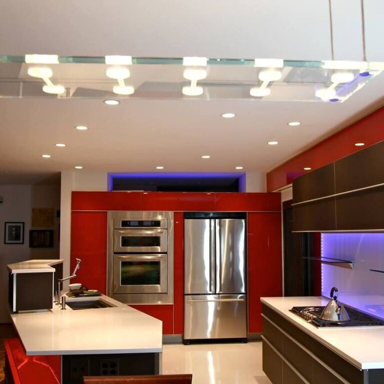 Custom Glass Kitchen