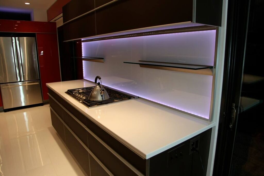 Brown Frosted Glass Cabinet Fronts