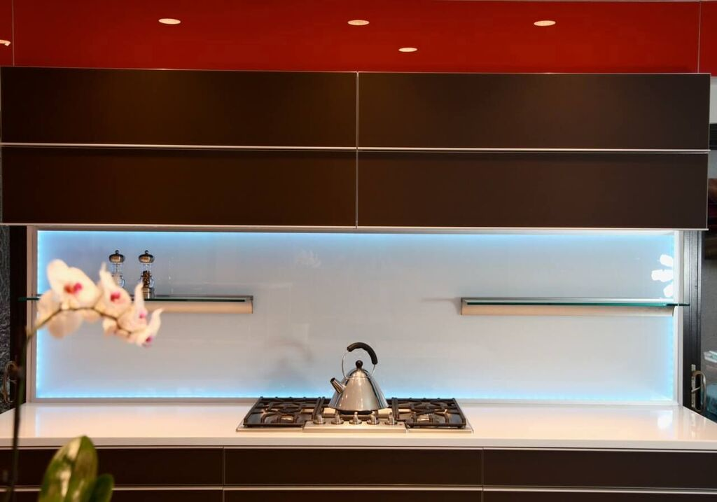 Illuminated Glass Backsplash