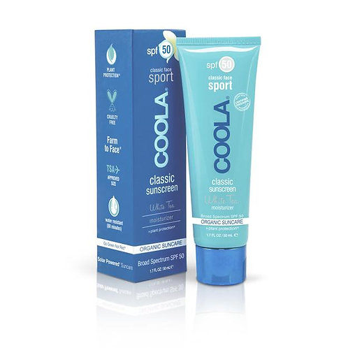 COOLA® Sport Face SPF 50 White Tea Organic Sunscreen Lotion