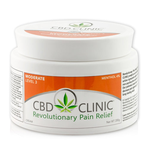 CBD CLINIC Level 3 - Moderate Muscle & Joint Pain Relief - 44g