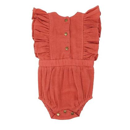 L'oved Baby    Muslin Ruffle Bodysuit