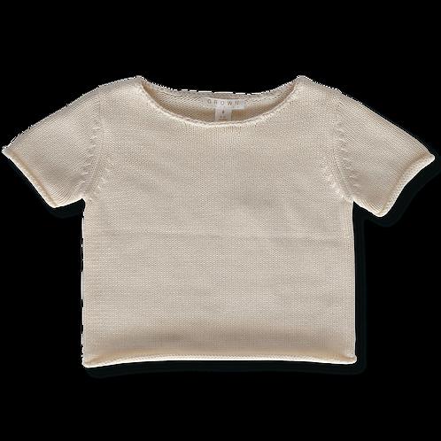 GROWN Australia || Knitted Sweater Tee || Milk