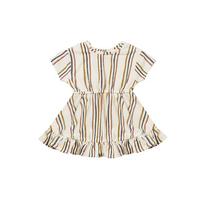 Quincy MAE || Terry Dress | retro stripe