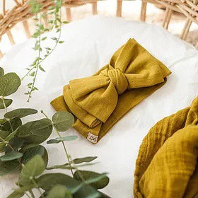 Baby Bow Headwrap | Golden Olive