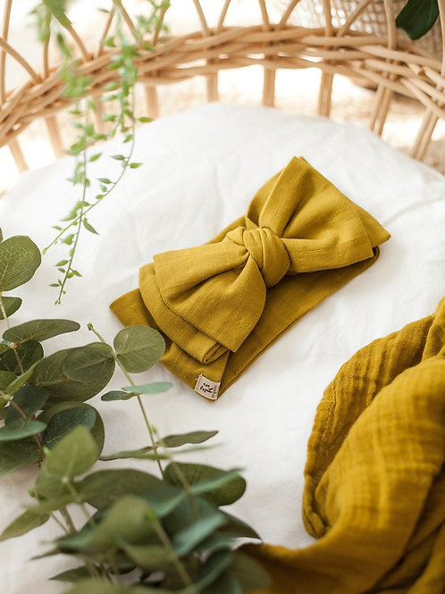 Baby Bow Headwrap   Golden Olive