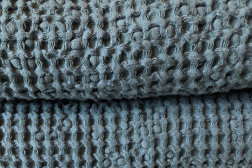 Waffle Linen Blanket   Winter Sage