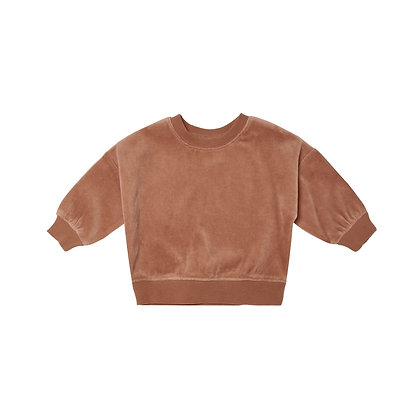 Quincy MAE | velour sweatshirt