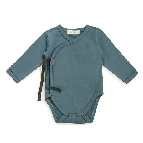 Cross-over Bodysuit | Balsam Blue