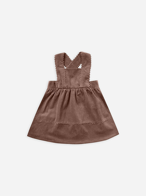 Corduroy Pinafore Dress | Wine