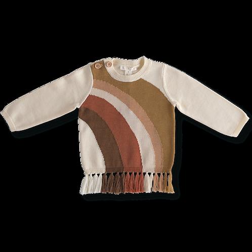 Rainbow Fringe Sweater