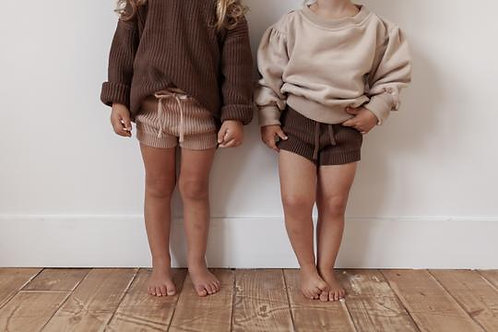 KINDLY || chunky knit shorties
