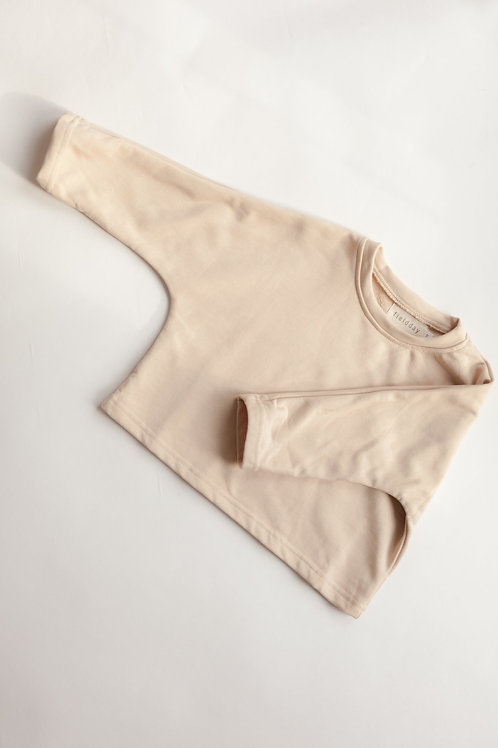 3/4 Sleeved Top | Nude