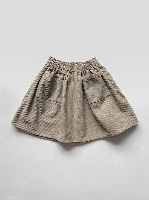 The Simple Corduroy Skirt   Oatmeal
