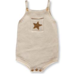 GROWN Australia || Pearl Knit Star Romper | Milk