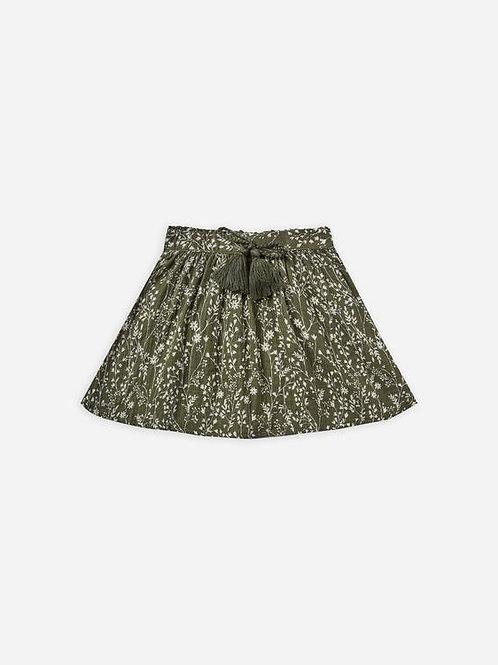 Printed Mini Skirt   Forest