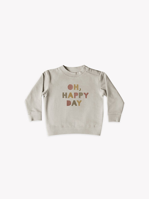 Oh Happy Day Sweatshirt | Fog