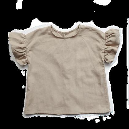 the SIMPLE FOLK  ||   frill linen shirt