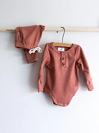 Ribbed Baby Set | Rust