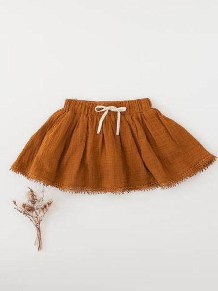 Muslin skirt  | antique gold