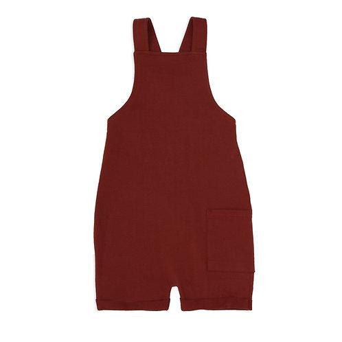 phil + phae || salopette shorts | deepest brick