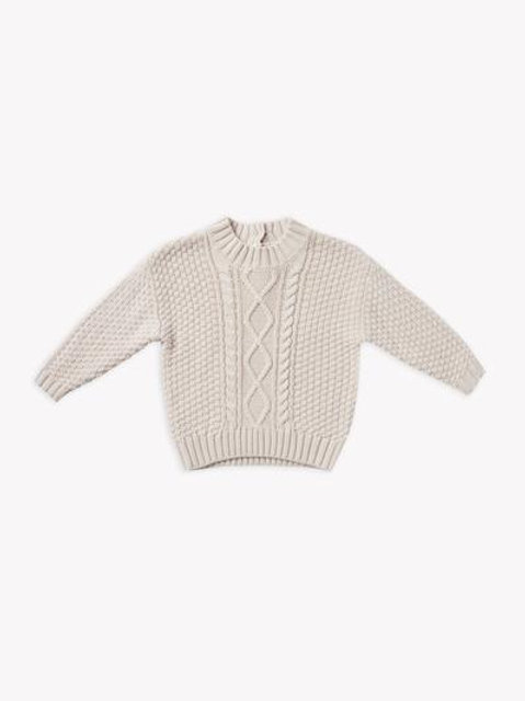 Cable Knit Sweater | Pebble