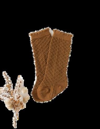 Picnic Knee Socks   Chestnut