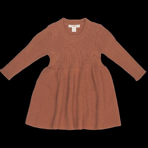 Ribbed Sweater Dress   Terracotta Rose