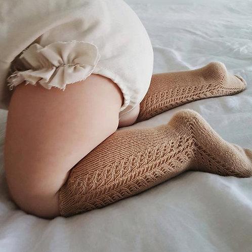 Cóndor Side Openwork Knee Socks | Camel