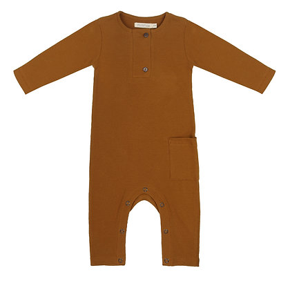 Phil and Phae || rib henley jumpsuit