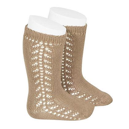 Cóndor    Side Openwork Knee Socks