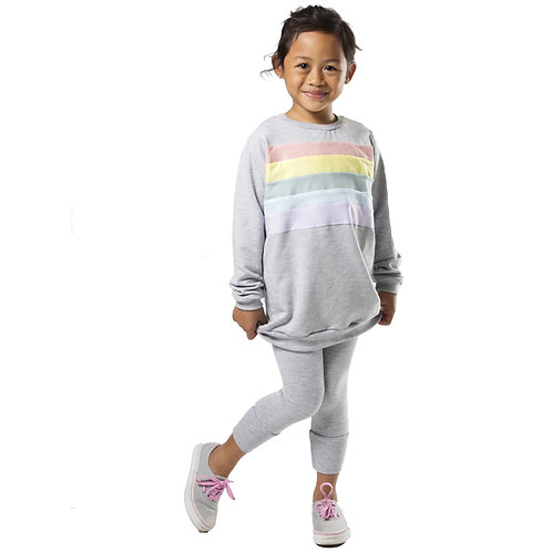Rainbow Sweatshirt Grey