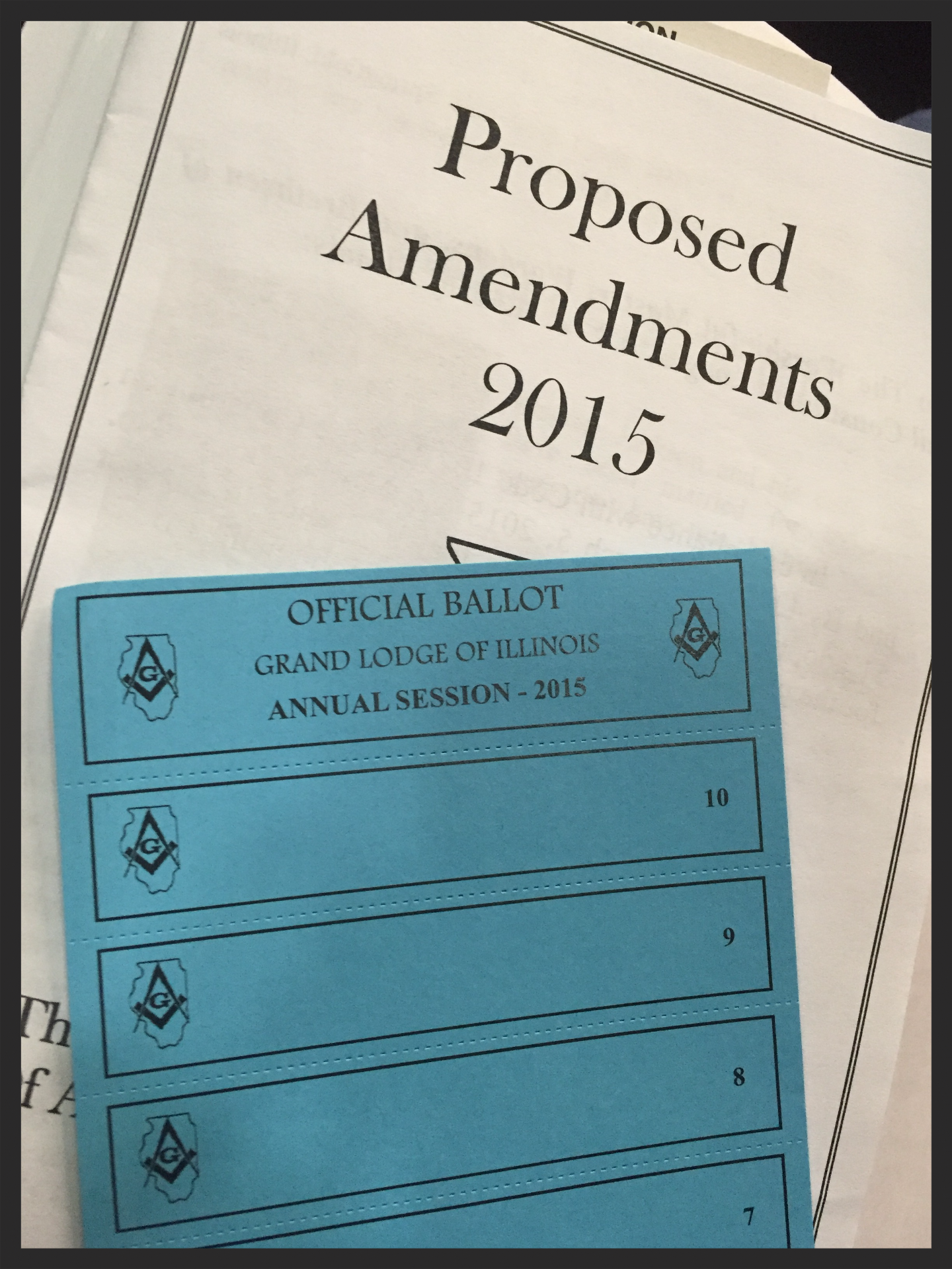 Proposed Amendments and Ballot
