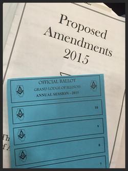 Proposed Amendments and Ballot