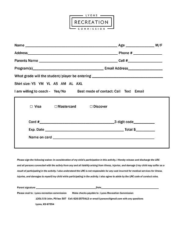 youth baseball registration - correction