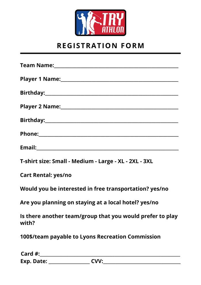 Try-athlon registration flyer