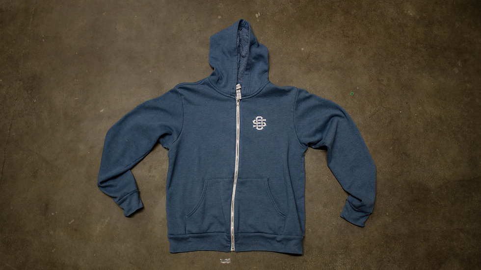 """OS"" Monogram Lightweight Hooded Sweatshirt"