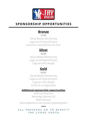 Try-athlon sponsor opportunities