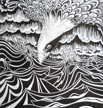 Soaring Above - Print  from pen & ink dr