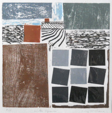 Winter Squares - Woodcut - AP