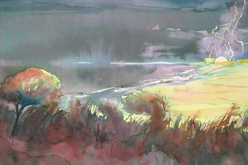 No 31. Lighting over Sizewell - Moyra Byford