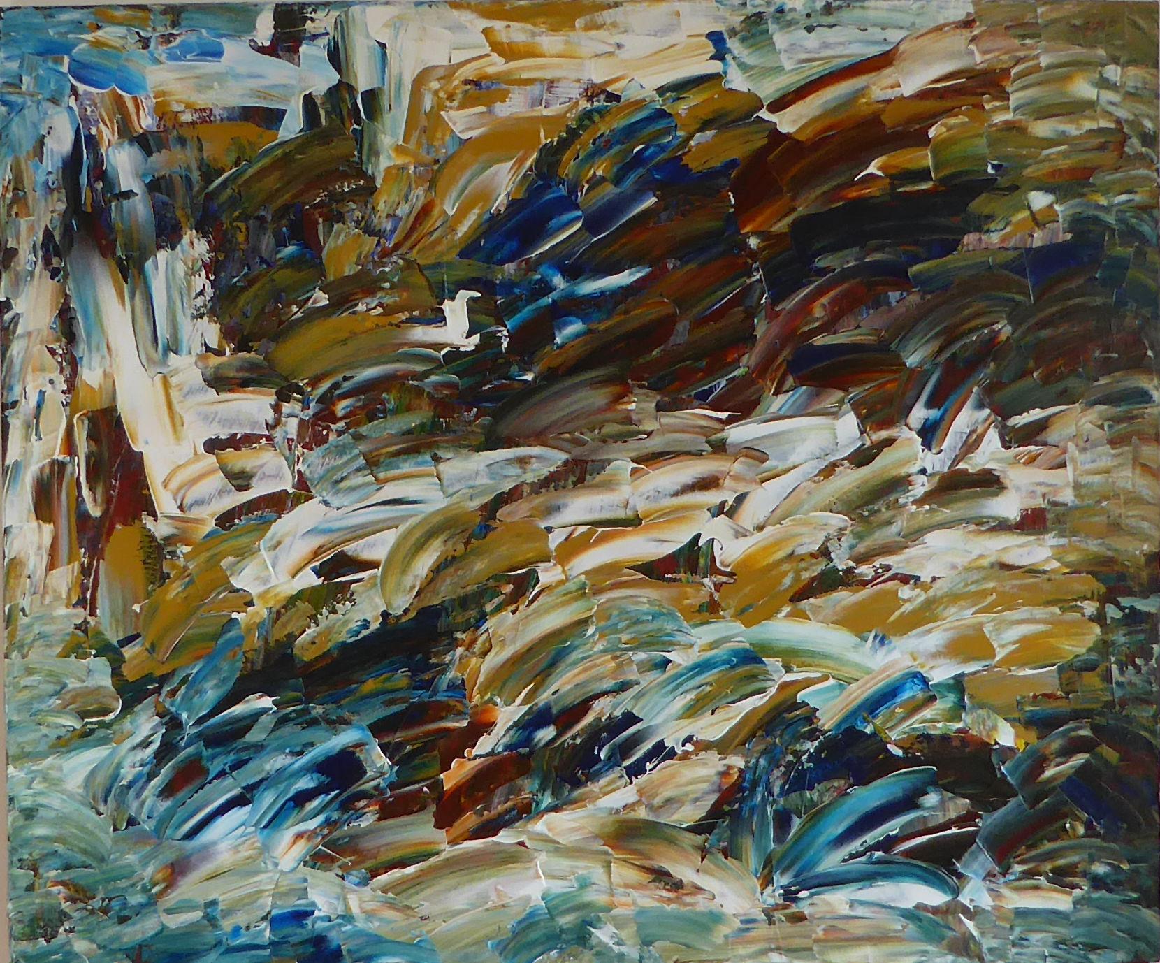 Deluge - Acrylic on wood panel