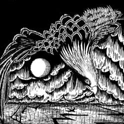Tidal Flight - Print  from pen & ink dra
