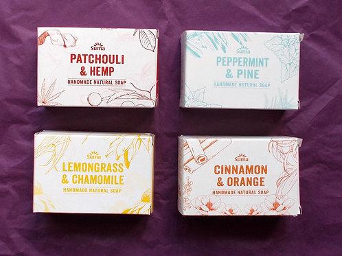4 boxed Suma soaps