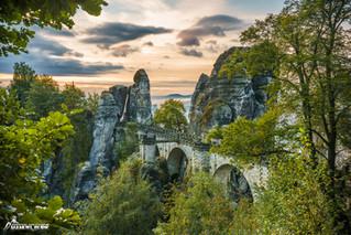 Die Bastei im Nationalpark Sächsische Schweiz
