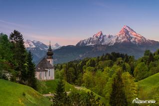 Alpenglühen und der Königssee