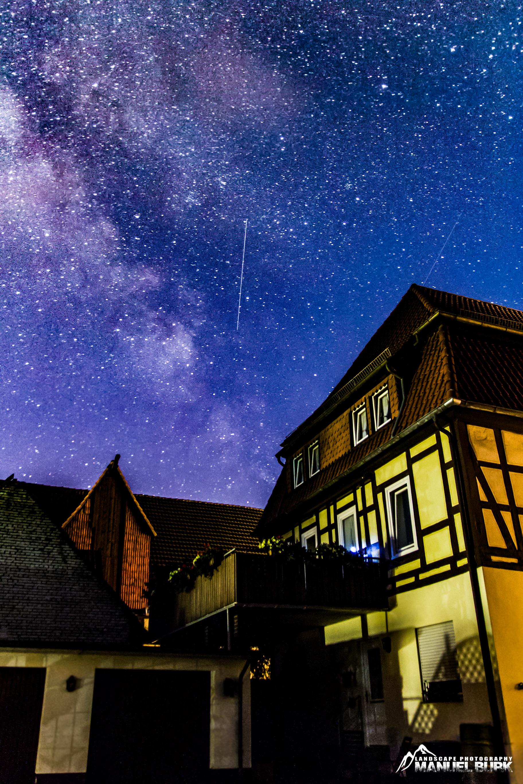 Milchstraße unserem Haus